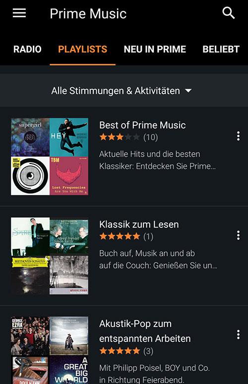 Prime Music App