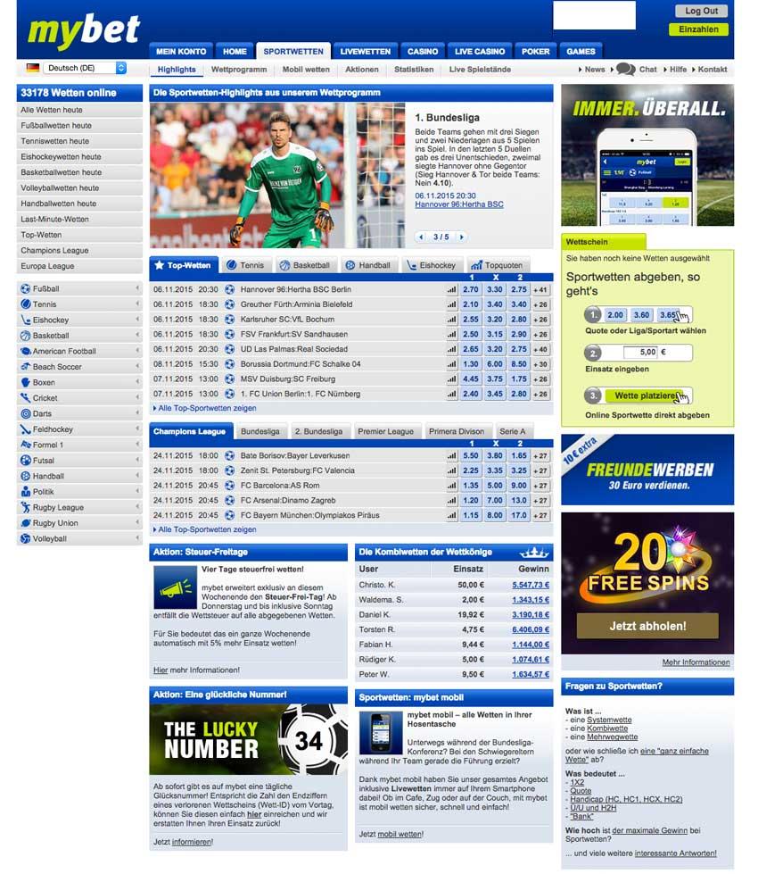 Www.Mybet.Com Sportwetten