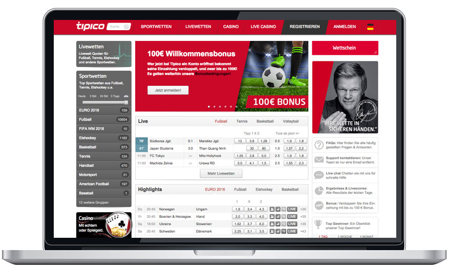 online sportwetten test