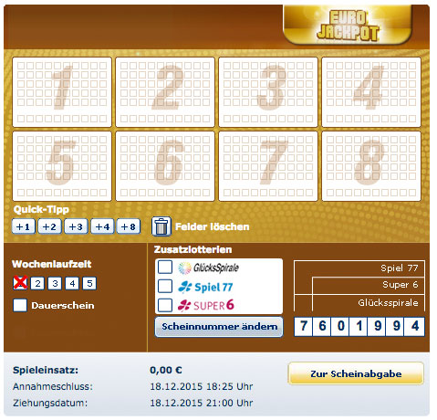 was kostet euro lotto spielen