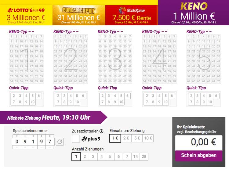 Lotto.De Keno