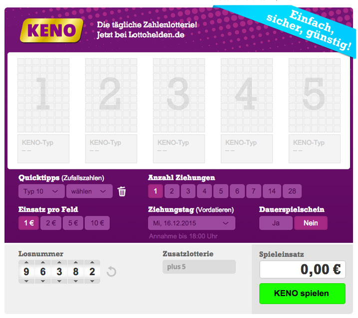 Lotto Tipp Kosten