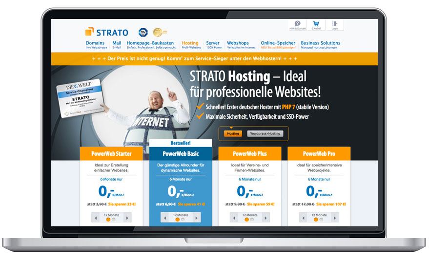 Strato Test Werbe Versprechen Vs Realitat Trialo Vergleichstest