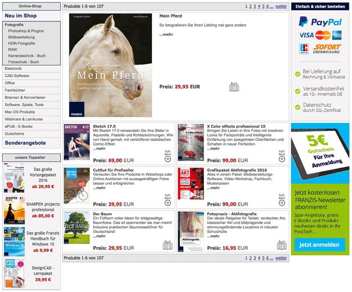 franzis online shop im ausführlichen trialo test, Garten ideen