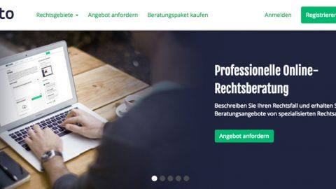 Jurato – Rechtsberatung online buchen