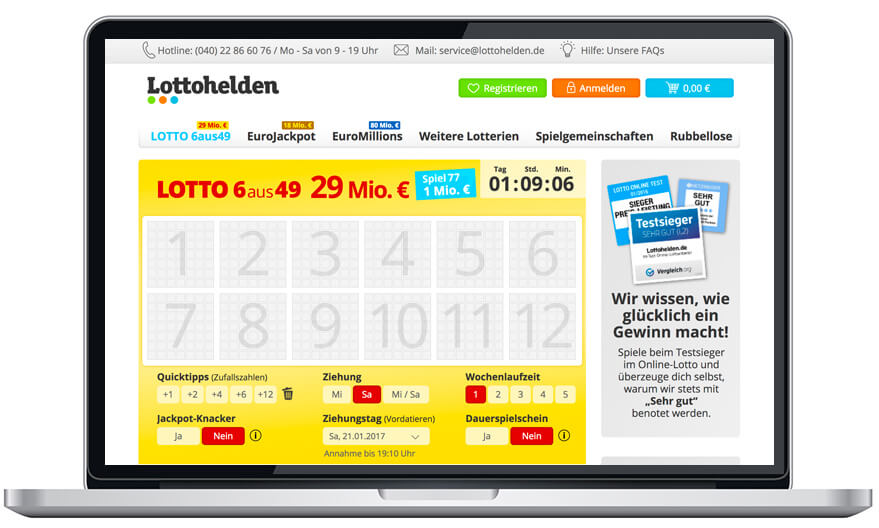 lottohelden g nstigster online lotto anbieter im trialo test. Black Bedroom Furniture Sets. Home Design Ideas