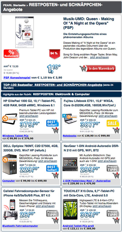 pearl tv online shop