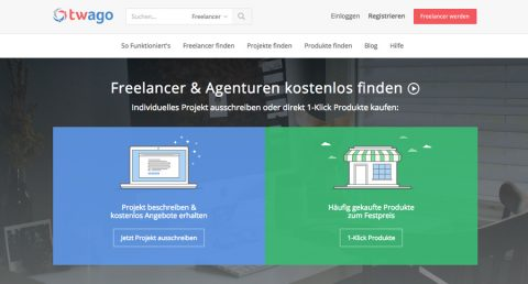Twago – kostenlos Projekte an Freelancer ausschreiben