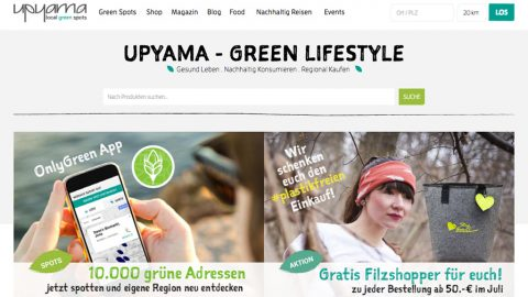"Upyama – alles zum ""grünen Lifestyle"""