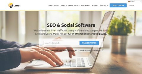 XOVI – SEO Tool und All-In-One Online Marketing Suite