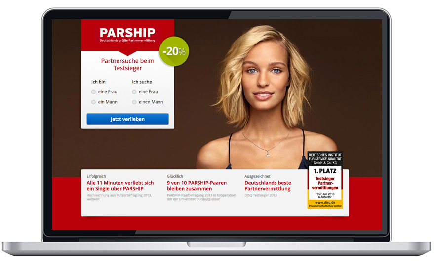 Model parship 2013 werbung Partnerschaftsvertrag: Parship