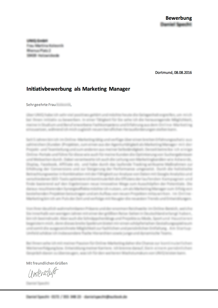 Bewerbung-Schreiber